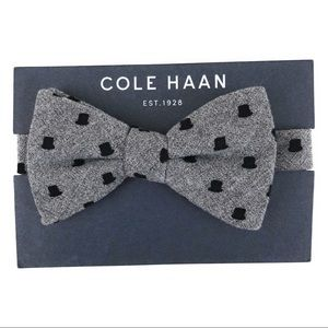 NWT Cole Haan Gray Top Hat Bow Tie